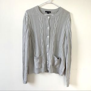 Brooks Brothers XL Gray Cardigan Button Down